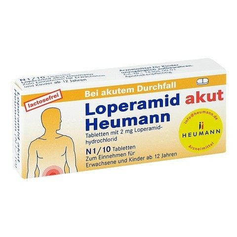Loperamid akut Heumann 10 Stück N1