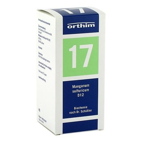 BIOCHEMIE Orthim 17 Manganum sulfuricum D 12 Tabl. 400 Stück N3