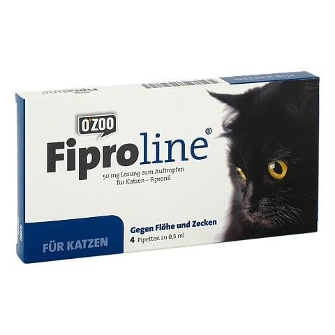 FIPROLINE 50 mg Lsg.z.Auftropf.f.Katzen 4 Stück