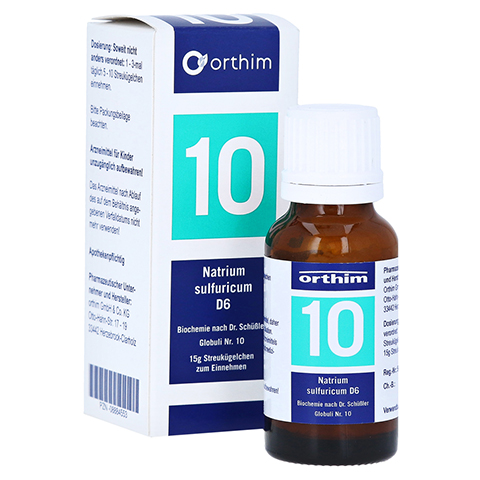 BIOCHEMIE Globuli 10 Natrium sulfuricum D 6 15 Gramm N1