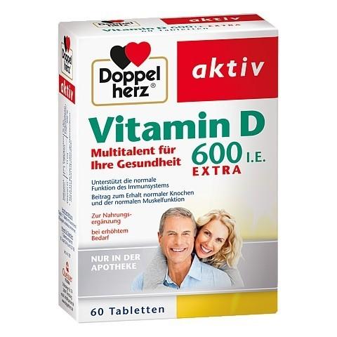 DOPPELHERZ Vitamin D 600 I.E. Tabletten 60 Stück