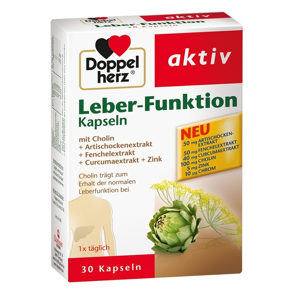 DOPPELHERZ Leber-Funktion Kapseln 30 Stück online bestellen - medpex ...