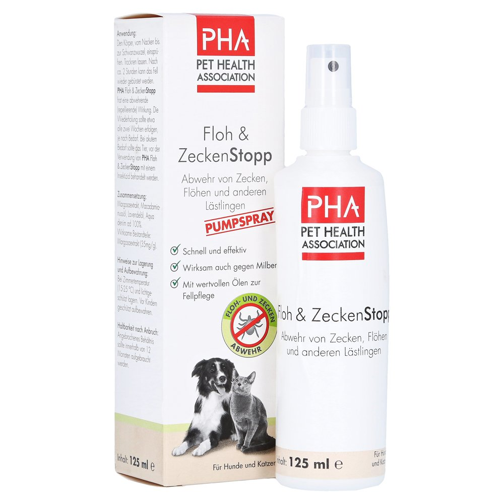 erfahrungen zu pha floh zeckenstopp spray f hunde katzen 125 milliliter medpex versandapotheke. Black Bedroom Furniture Sets. Home Design Ideas