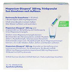 MAGNESIUM DIASPORAL 300 mg Granulat 10x20 Stück - Rückseite