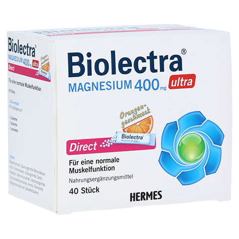 BIOLECTRA Magnesium 400 mg ultra Direct Orange 40 Stück