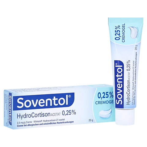 Soventol Hydrocortisonacetat 0,25% 20 Gramm N1