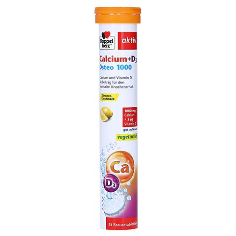 DOPPELHERZ Calcium+D3 Osteo 1.000 Brausetabletten 15 Stück