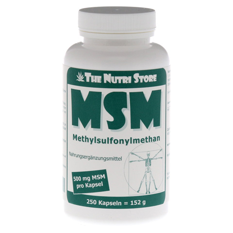 MSM 500 mg Methylsulfonylmethan Kapseln 250 Stück