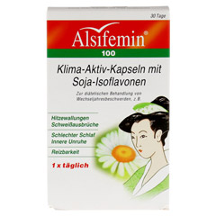 ALSIFEMIN 100 Klima-Aktiv m.Soja 1x1 Kapseln 30 Stück - Vorderseite