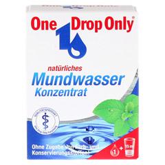 ONE DROP Only natürl.Mundwasser Konzentrat 25 Milliliter - Vorderseite