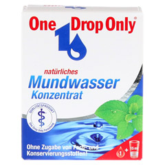 ONE DROP Only natürl.Mundwasser Konzentrat 50 Milliliter - Vorderseite