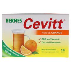 HERMES Cevitt heiße Orange Granulat 14 Stück - Vorderseite