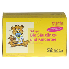 SIDROGA Bio Säuglings- und Kindertee Filterbeutel 20x1.3 Gramm - Vorderseite