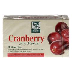 CRANBERRY ACEROLA Baders Filterbeutel 20 Stück - Vorderseite