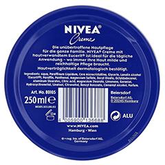 NIVEA CREME Dose 250 Milliliter - Rückseite
