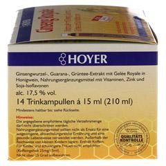 HOYER Ginseng Royale Trinkampullen 14x15 Milliliter - Linke Seite