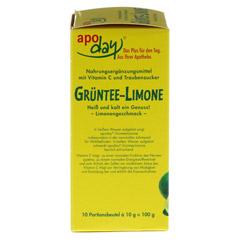 APODAY Limone Vitamin C+Grüntee-Extrakt Pulver 10x10 Gramm - Linke Seite