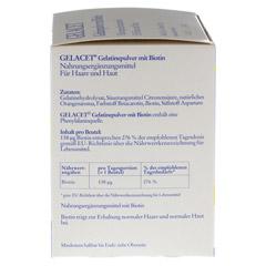 GELACET Gelatinepulver mit Biotin im Beutel 21 Stück - Linke Seite