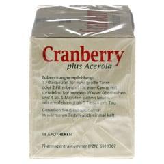 CRANBERRY ACEROLA Baders Filterbeutel 20 Stück - Linke Seite