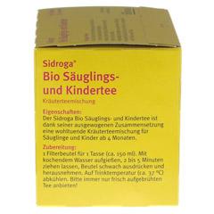 SIDROGA Bio Säuglings- und Kindertee Filterbeutel 20x1.3 Gramm - Linke Seite