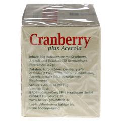CRANBERRY ACEROLA Baders Filterbeutel 20 Stück - Rechte Seite