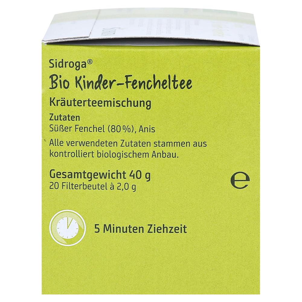 sidroga bio kinder fencheltee filterbeutel 20x2 0 gramm. Black Bedroom Furniture Sets. Home Design Ideas
