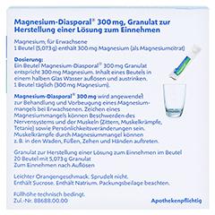 MAGNESIUM DIASPORAL 300 mg Granulat 20 Stück N1 - Rückseite