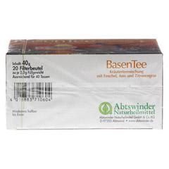 Basentee Filterbeutel 20 Stück - Unterseite