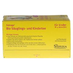 SIDROGA Bio Säuglings- und Kindertee Filterbeutel 20x1.3 Gramm - Unterseite