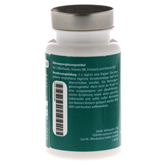 AMINOPLUS Methionin plus Vitamin B Komplex Kapseln 60 Stück - Rückseite
