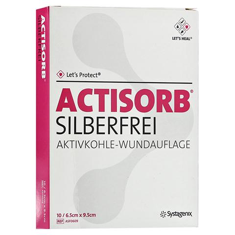 ACTISORB SILBERFREI 6,5x9,5 cm Kompressen 10 Stück