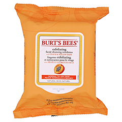 BURT'S BEES Facial Cleansing Towelettes Peach & Willow Bark Exfoliating 25 Stück