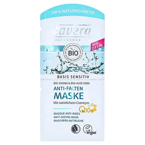 LAVERA basis sensitiv Anti-Falten Maske Q10 4spra. 2x5 Milliliter