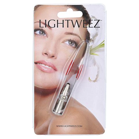 PINZETTE schräge Spitze LED-Licht Edelstahl 9,5 cm 1 Stück