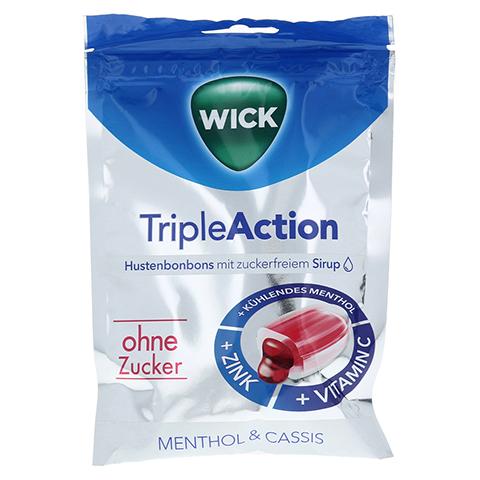 WICK Tripleaction Menthol & Cassis ohne Zucker 72 Gramm