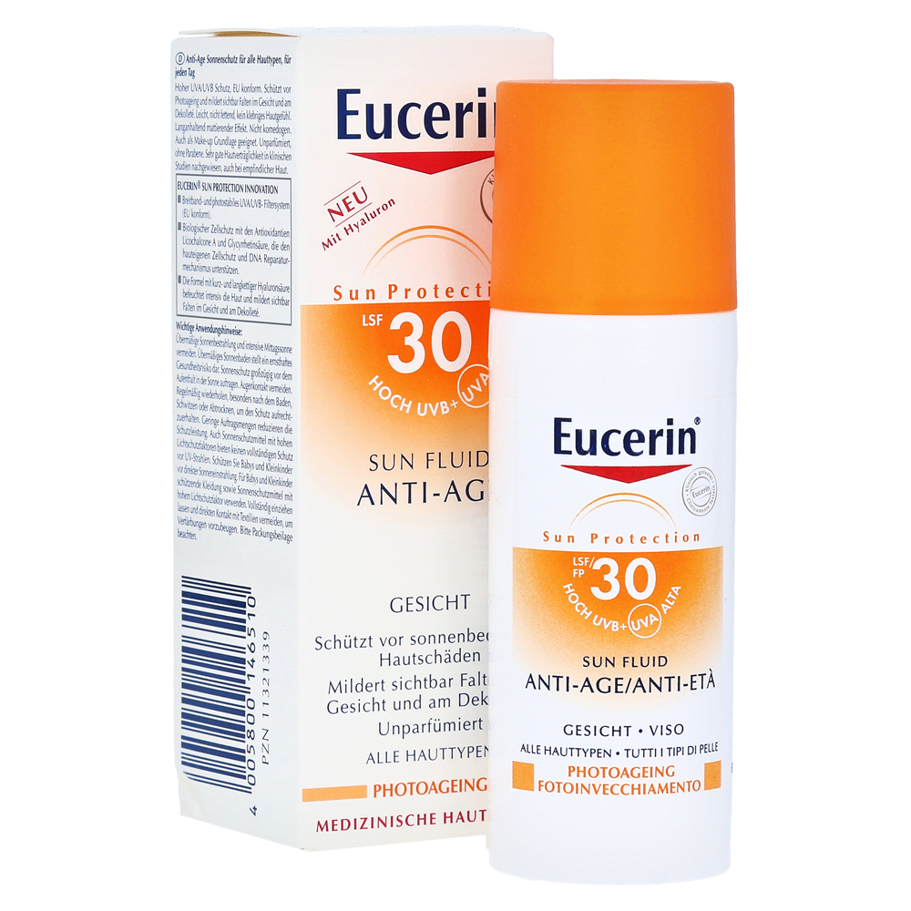 eucerin sun fluid anti age lsf 30 50 milliliter online. Black Bedroom Furniture Sets. Home Design Ideas