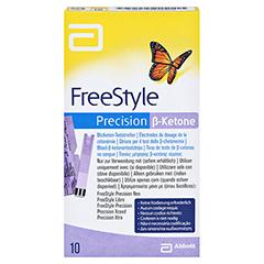 FREESTYLE Precision Beta Ketone Blutketon Teststr. 10 Stück - Vorderseite