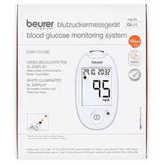 BEURER GL44 Blutzuckermessgerät mg/dl weiß 1 Stück - Vorderseite