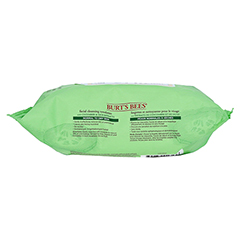 BURT'S BEES Facial Cleansing Towelettes Cucumber & Sage 30 Stück - Rechte Seite