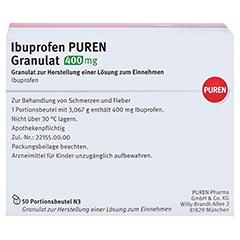 Ibuprofen PUREN 400mg 50 Stück N3 - Rückseite