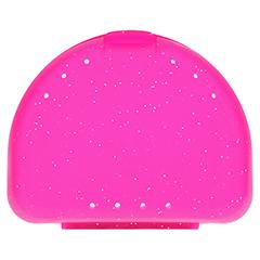 ZAHNSPANGENBOX small pink transparent 1 Stück - Rückseite