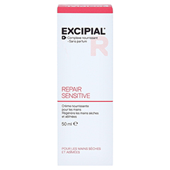 EXCIPIAL Repair Sensitive Creme 50 Milliliter - Rückseite