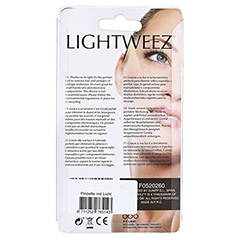 PINZETTE schräge Spitze LED-Licht Edelstahl 9,5 cm 1 Stück - Rückseite