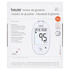 BEURER GL44 Blutzuckermessgerät mg/dl weiß 1 Stück - Rückseite