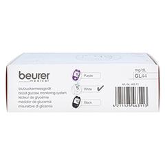 BEURER GL44 Blutzuckermessgerät mg/dl weiß 1 Stück - Unterseite