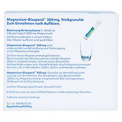 MAGNESIUM DIASPORAL 300 mg Granulat 50 Stück N2 - Rückseite