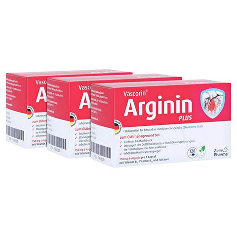VASCORIN Arginin Plus Kapseln 360 Stück