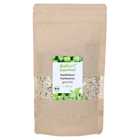 DUOWELL Superfood Bio Hanfnüsse geschält 200 Gramm