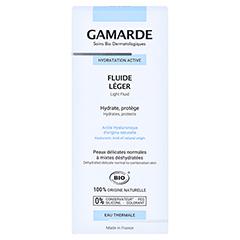 GAMARDE leichtes Feuchtigkeitsfluid 40 Milliliter - Rückseite