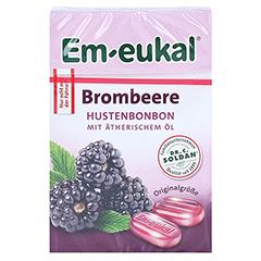 EM EUKAL Bonbons Brombeere zuckerhaltig Box 50 Gramm - Vorderseite